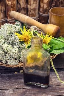 Récolte d'herbes médicinales