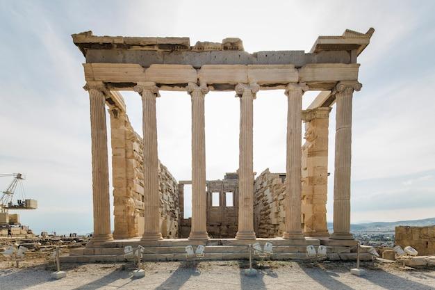 Reconstruction du parthénon à athéna, grèce
