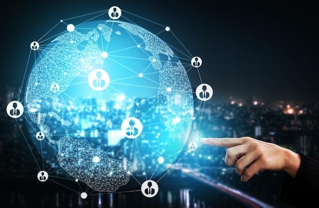 Recrutement des ressources humaines et concept de réseautage de personnes.