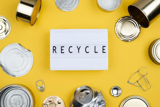 Recyclage à plat