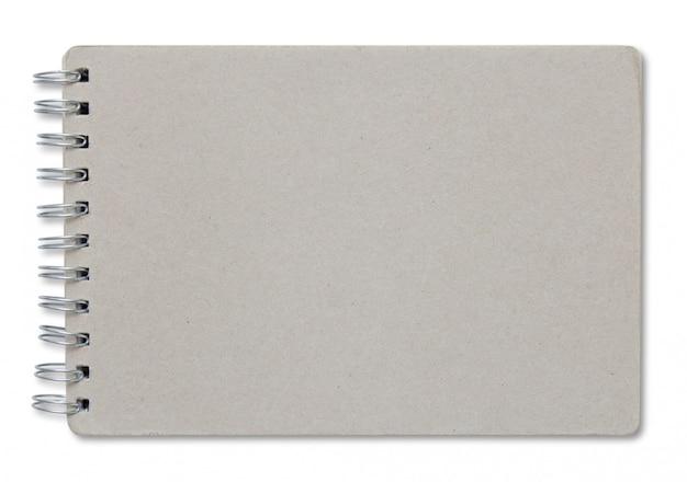 Recycler la couverture de cahier isolé sur fond blanc