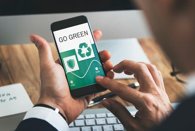 Recycler l'icône de l'environnement eco concept