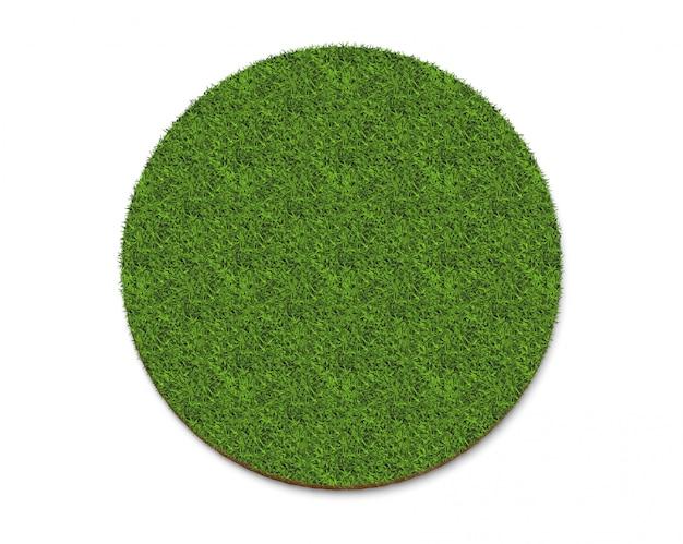 Recycler le logo de l'icône de la texture de l'herbe verte isolé sur blanc