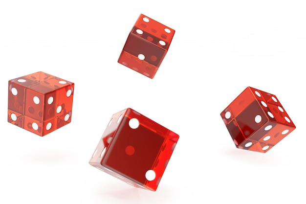Red casino dice