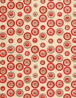 Red gold cercles de papier