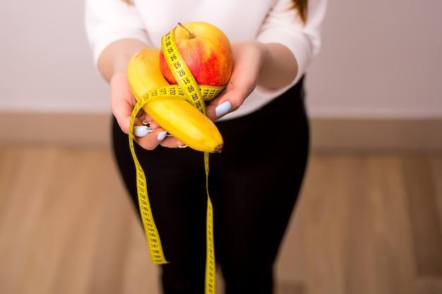 Régime alimentaire, alimentation saine, mode de vie. perte de poids. adiposité. vue de dessus