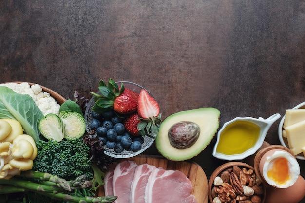 Régime cétogène, faible teneur en glucides, en gras et en nourriture saine