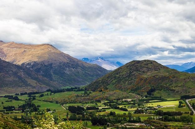 Régions viticoles de la nouvelle-zélande région de queenstown île du sud