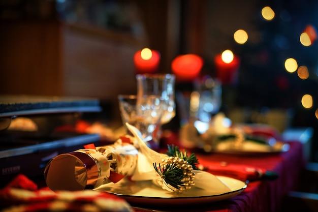 Réglage du dîner au restaurant
