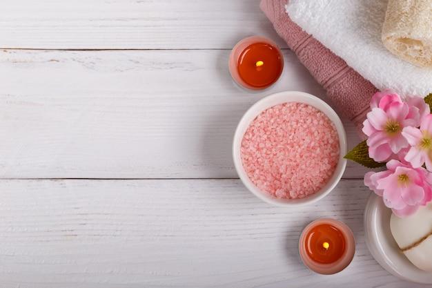 Réglage du spa rose