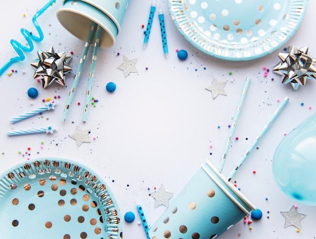 Réglage de la table d'anniversaire
