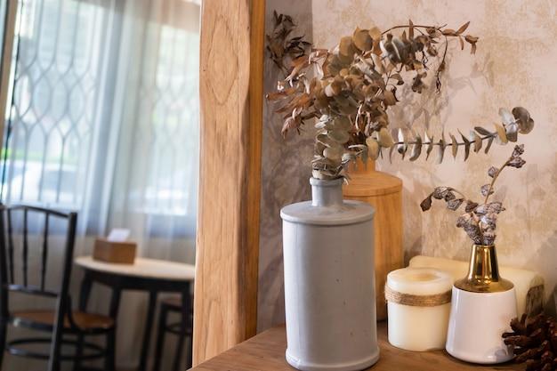 Réglage de table de café de style miniaml