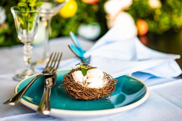 Réglage de la table de pâques