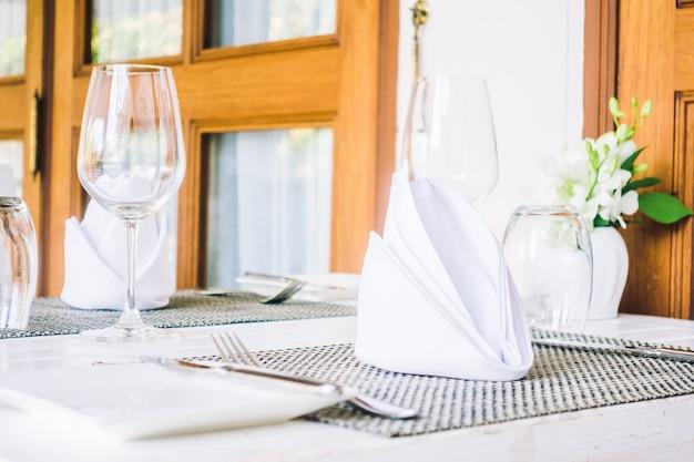 Réglage de la table