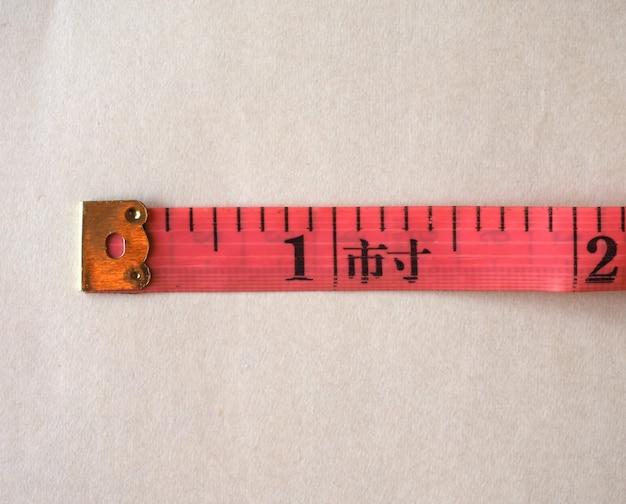 Règle à ruban sur mesure en cun (pouce chinois)