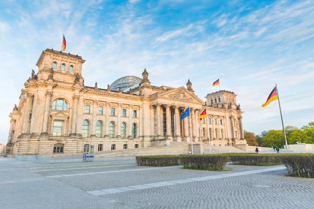 Reichstag allemand, le bâtiment du parlement à berlin