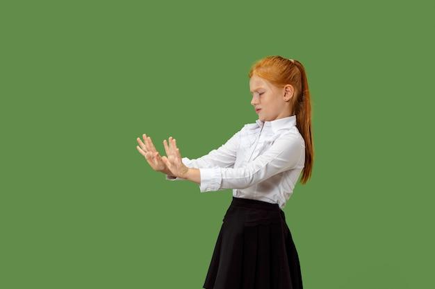 Rejeter, rejet, concept de doute. jeune adolescente émotionnelle. émotions humaines, concept d'expression faciale