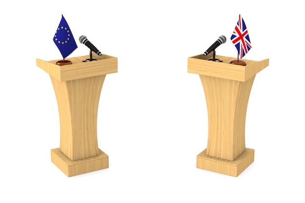 Relation entre le royaume-uni et l'ue sur blanc