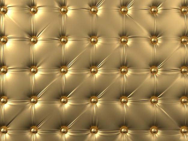 Rembourrage de canapé doré avec boutons. texture de luxe en cuir pour les motifs ou les arrière-plans.