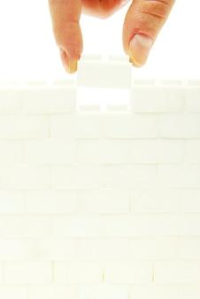 Remplir le mur sur un fond blanc