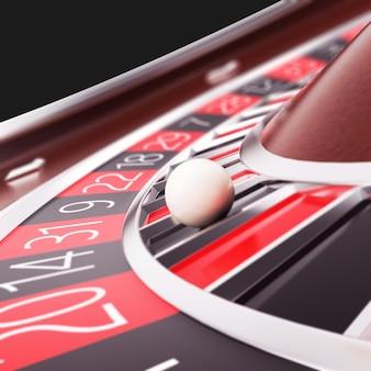 Rendez la roulette de casino en gros plan.