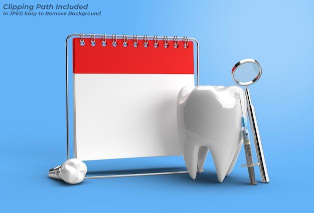 Rendez-vous chez le médecin avec un outil de stylo de concept de chirurgie d'implants dentaires création d'un tracé de détourage inclus dans jpeg facile à composer.
