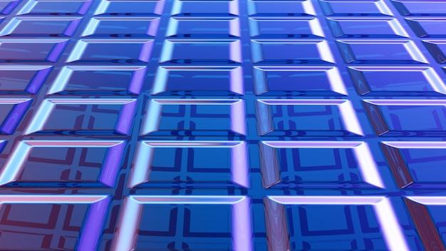 Rendu 3d abstrait bleu