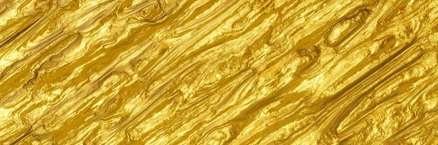 Rendu 3d. abstrait doré.