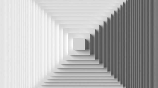 Rendu 3d abstrait fond papier peint composition cadre répétitif motif blanc