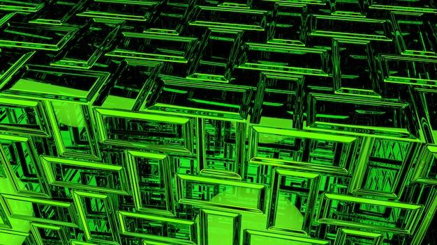 Rendu 3d abstrait fond vert