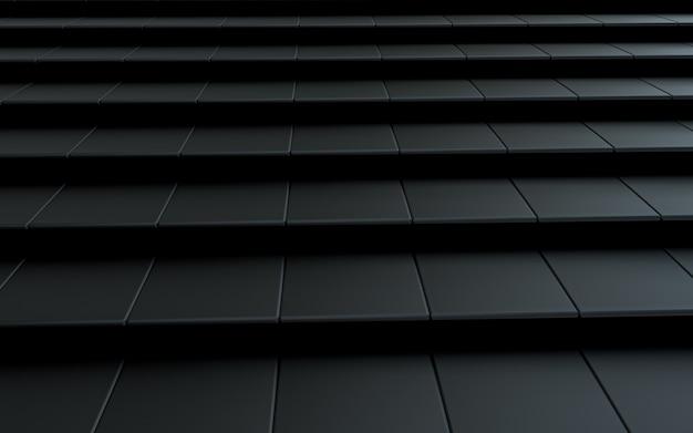 Rendu 3d abstrait de forme carrée de luxe sombre