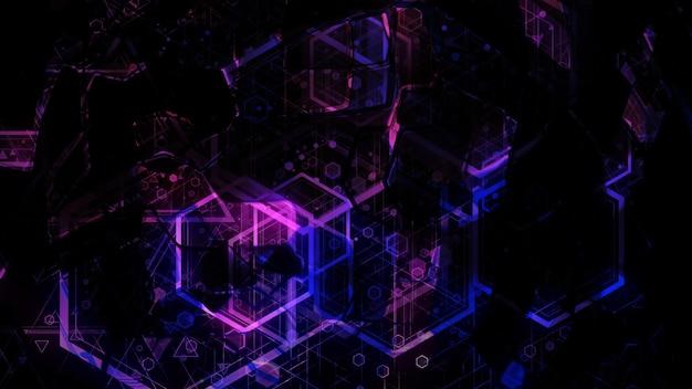 Rendu 3d de l'abstrait géométrique