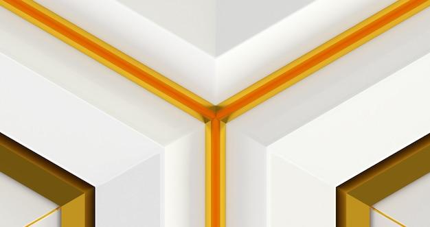 Rendu 3d d'abstrait. illustration 3d transparente de haute qualité