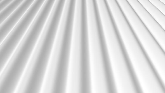 Rendu 3d abstrait lignes douces blanches