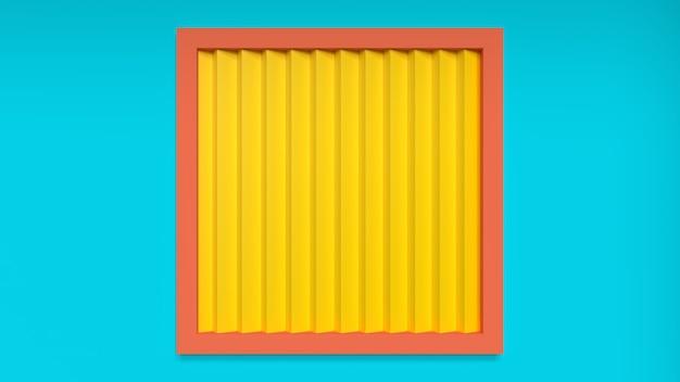 Rendu 3d abstrait lumineux juteux fond fond d'écran studio lumière éclairage jaune bleu