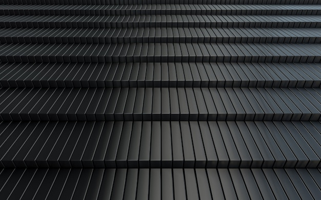 Rendu 3d abstrait de luxe sombre