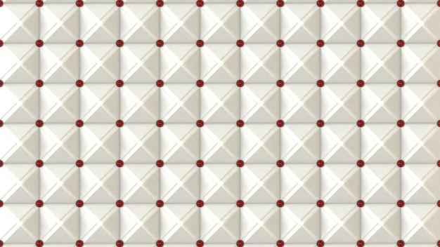 Rendu 3d abstrait motif rouge blanc