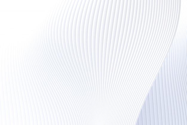 Rendu 3d, abstrait mur vague architecture fond blanc, fond blanc pour présentation, portfolio, site web
