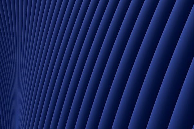 Rendu 3d, abstrait mur vague architecture fond bleu luxe, fond bleu luxe pour présentation, portfolio, site web