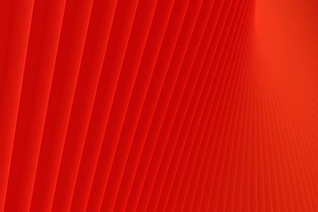 Rendu 3d, abstrait mur vague architecture fond rouge, fond rouge pour présentation, portfolio, site web