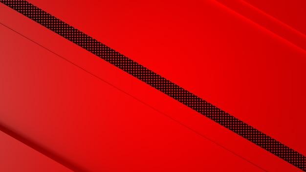 Rendu 3d abstrait noir rouge
