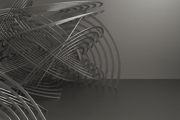Rendu 3d abstrait pour voiture