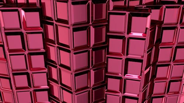 Rendu 3d abstrait rose