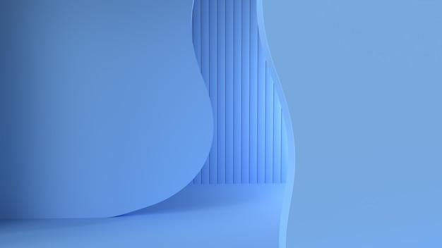 Rendu 3d abstrait simple minimaliste