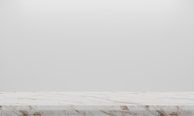 Rendu 3d abstrait sol en marbre de texture naturelle sur fond blanc. design d'intérieur ou afficher votre produit.