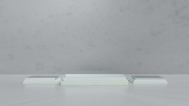 Rendu 3d. affichage de scène minimal avec des formes géométriques ou un produit d'affichage sur podium