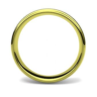Rendu 3d d'un anneau d'or