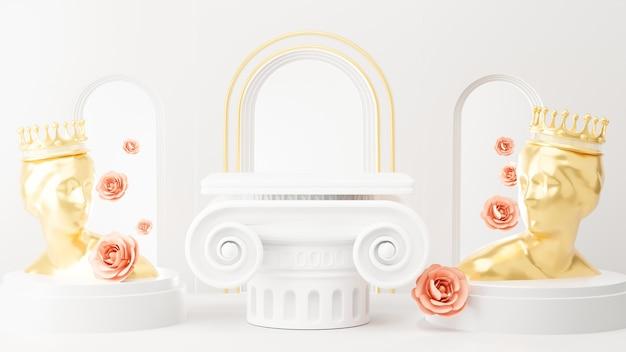 Rendu 3d de l'architecture romaine pour l'affichage du produit