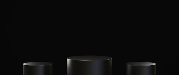 Rendu 3d de l'arrière-plan du produit vierge pour l'affichage de décorations cosmétiques à la mode et à la crème. fond de podium moderne pour produit de luxe.