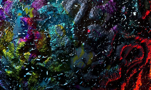Rendu 3d de l'art abstrait 3d texture de fond avec une partie de la surface de l'astéroïde planète grunge rugueux